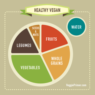 Healthy Vegan Info Graphic