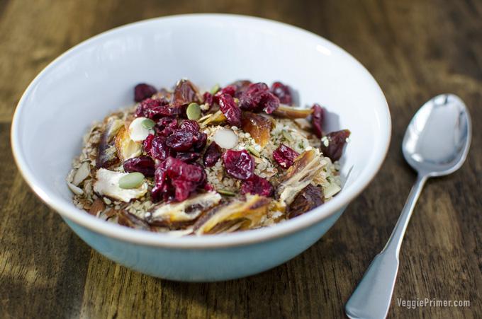 raw vegan oatmeal mix