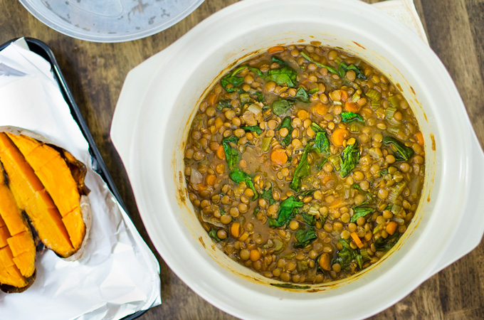 Slow Cooker Lentil Soup 2