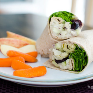 Vegan Greek Sandwich Wrap