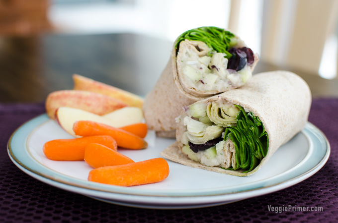 vegan greek sandwich wrap
