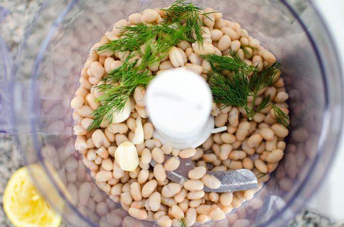 white bean spread