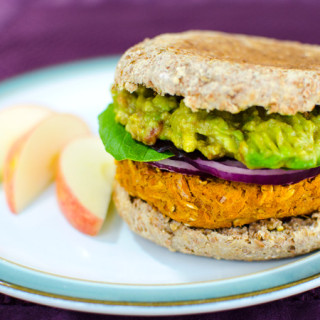 Sweet Potato Veggie Burgers with Quick Guacamole