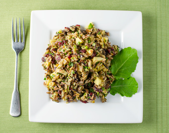 cranberry walnut wild rice salad 2