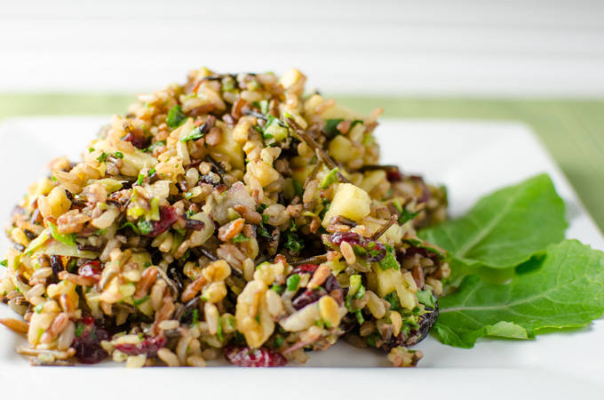 cranberry walnut wild rice salad