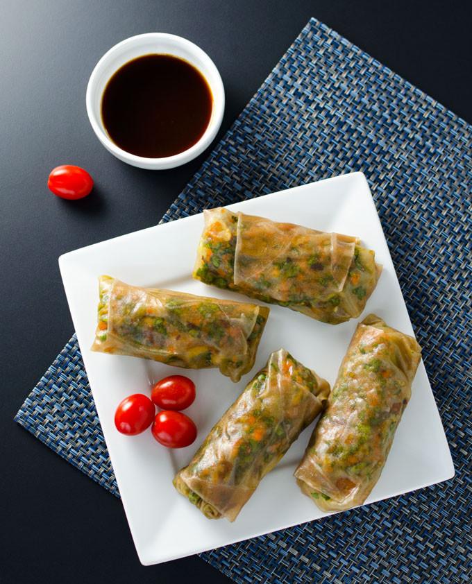 teriyaki veggie spring rolls