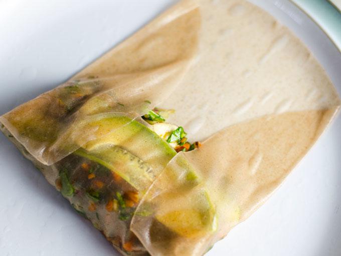 teriyaki veggie spring rolls 2