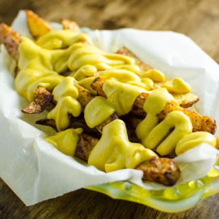 No Guilt Cheesy Fries – Vegan and Gluten Free