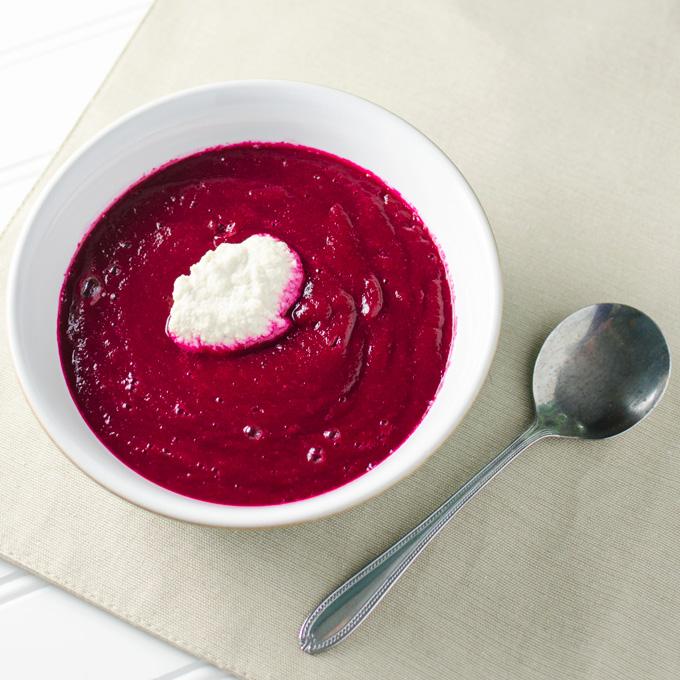 Blender Borscht - a.k.a. cold beet soup | VeggiePrimer.com