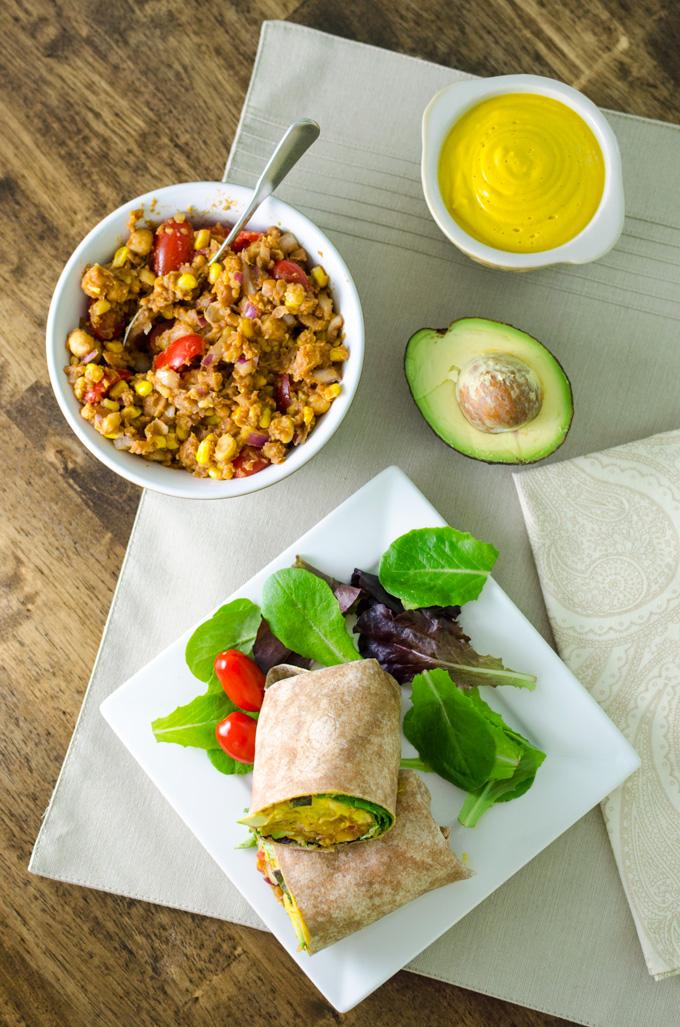 Cheesy BBQ Chickpea Wrap | VeggiePrimer.com