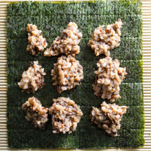Sweet Potato Sushi Rolls with wild rice and cinnamon | VeggiePrimer.com