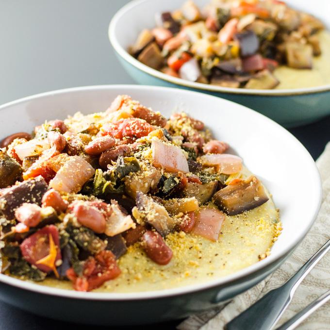 Ratatouille with Creamy Polenta | VeggiePrimer.com