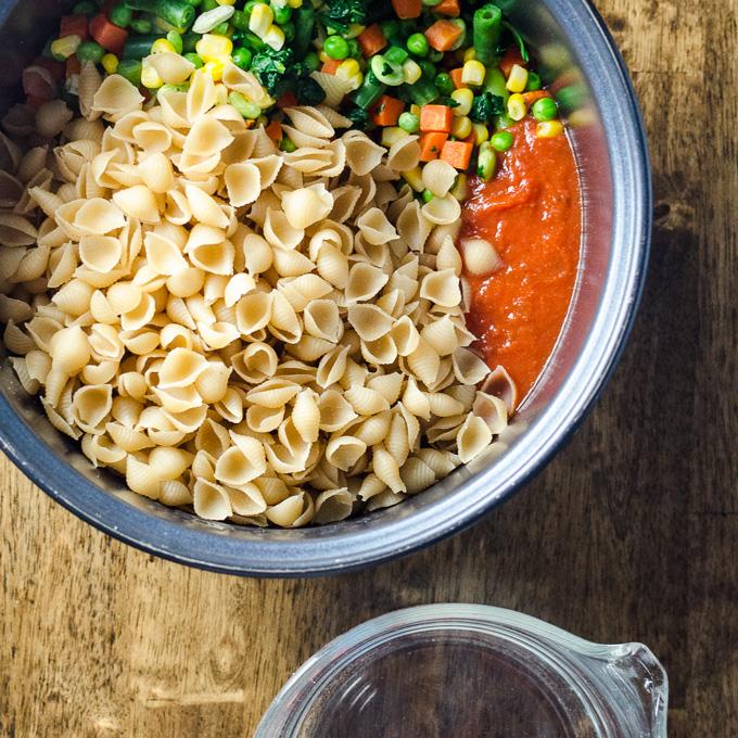 rice pasta vegan diet
