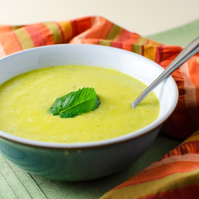 Spicy Cantaloupe Gazpacho | VeggiePrimer.com
