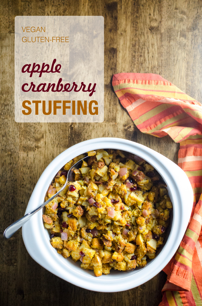 Apple Cranberry Stuffing - a healthier version of a Thanksgiving ...