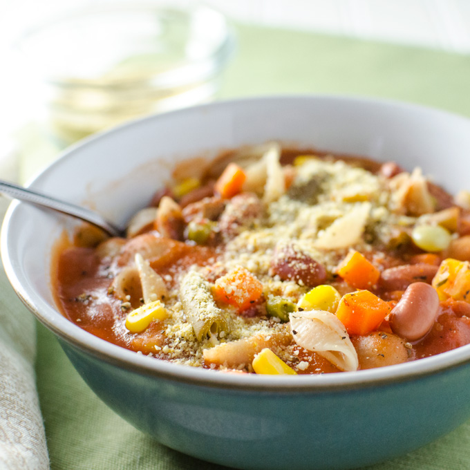 Quick Veggie Minestrone Soup Vegan And Gf Veggie Primer