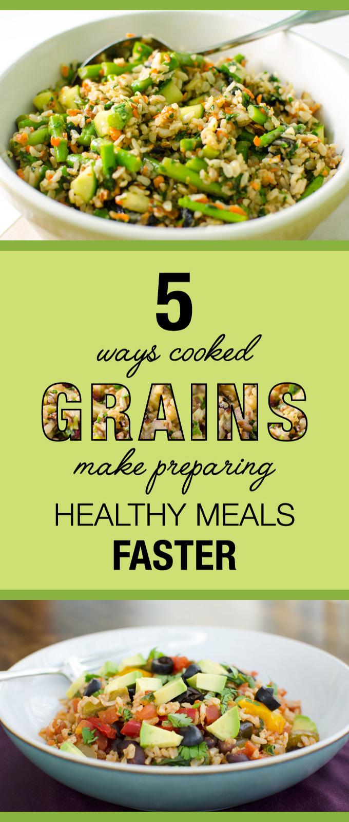 5 Ways Cooked Grains Make Preparing Healthy Meals Faster | VeggiePrimer.com