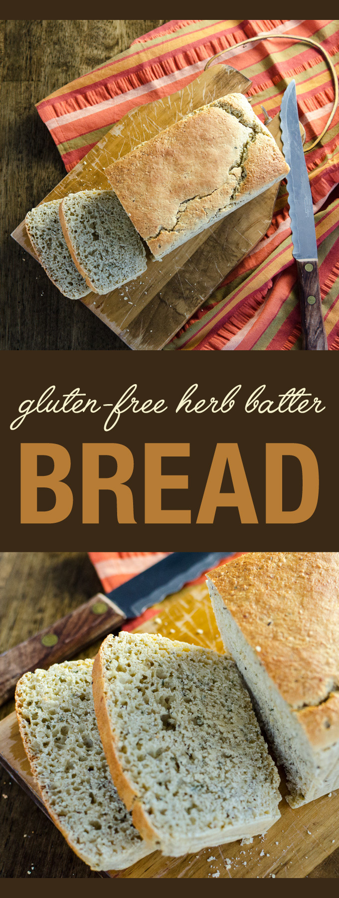 Gluten-Free Herb Batter Bread - a savory crusty vegan recipe that goes well with soup and salad - make in just 6 easy steps | VeggiePrimer.com