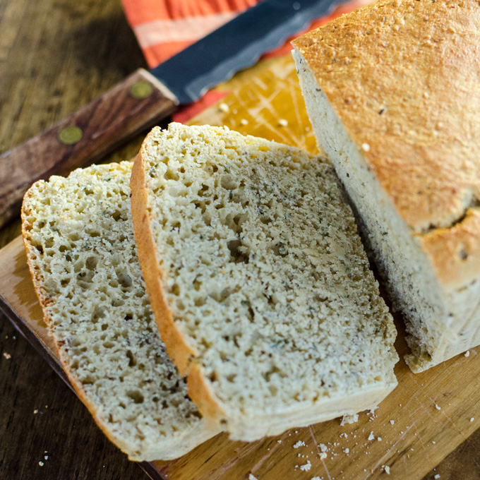 Gluten-Free Herb Batter Bread - a savory crusty vegan recipe that goes ...