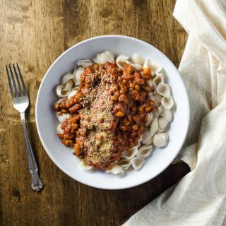 Rice Cooker Vegan Lentil Bolognese