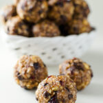 No-Bake Hazelnut Cranberry Energy Bites - this quick and easy recipe offers a great alternative to traditional holiday cookies! | VeggiePrimer.com