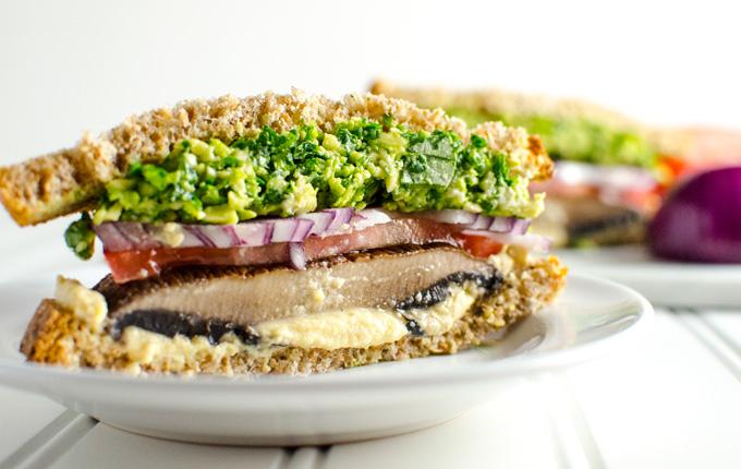 Loaded Portobello Mushroom Sandwich Veggie Primer