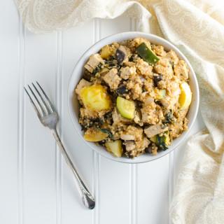 Quick BBQ Veggie Quinoa Bowl