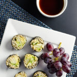 Cucumber Pear Sushi - a vegan and gluten-free recipe offering a lovely blend of sweet, fresh and crunchy flavors and textures | VeggiePrimer.com