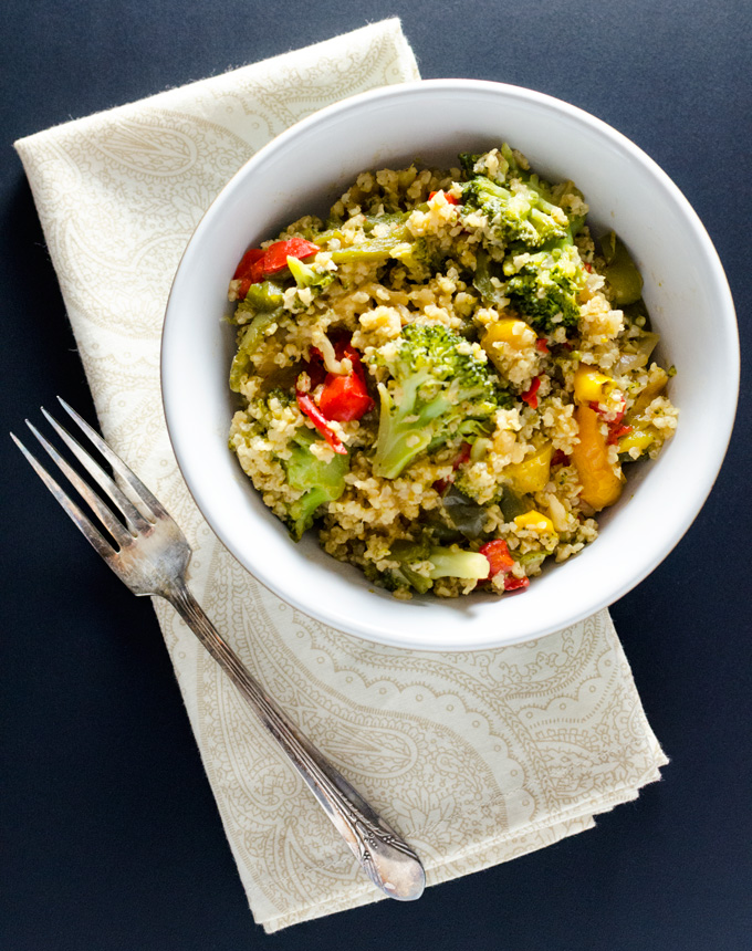 Oil-Free Broccoli Millet Stir-Fry - this vegan and gluten-free recipe offers a tasty alternative to traditional rice stir-fries - a satisfying meal or side dish   VeggiePrimer.com