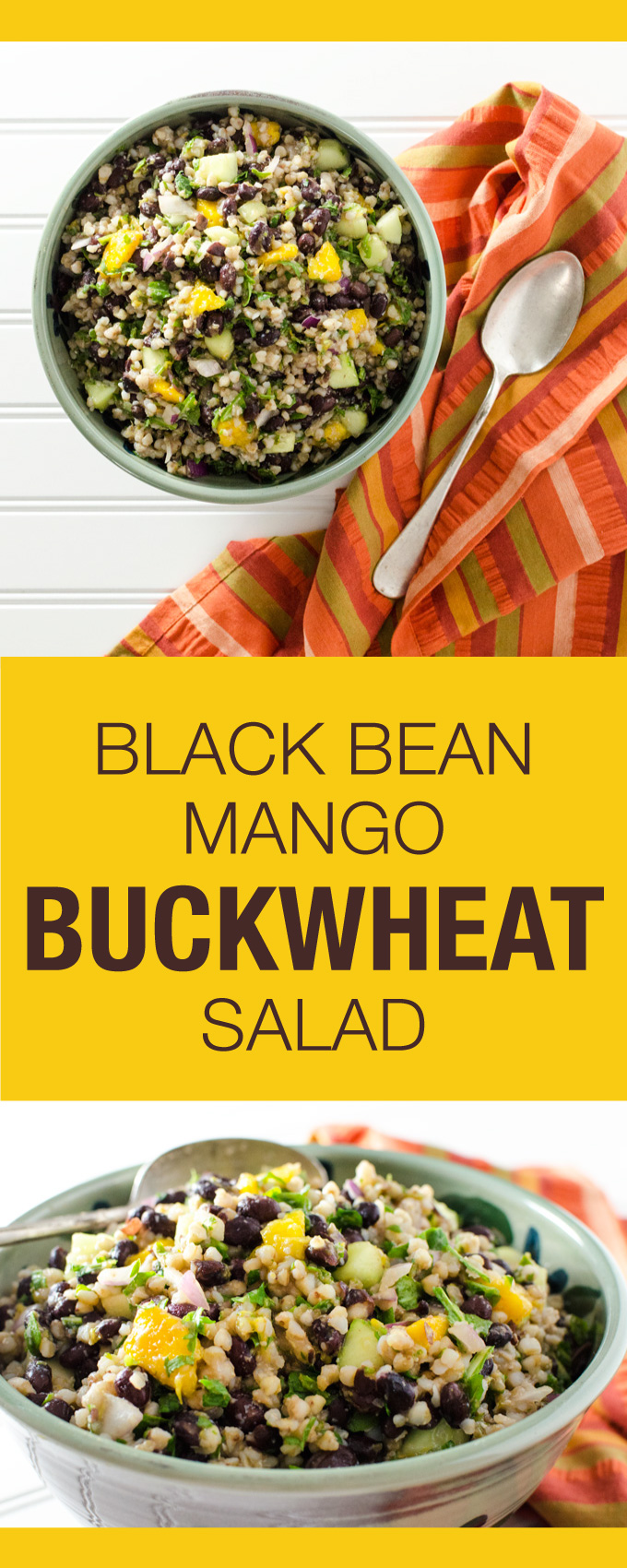 Black Bean Mango Buckwheat Salad This Vegan Gluten Free Recipe Makes A Great Lunch