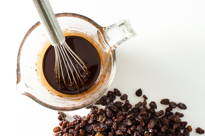Homemade Chocolate Covered Raisins - this super easy vegan gluten-free recipe combines the pure rich flavor of homemade chocolate with the naturally sweet taste of raisins | VeggiePrimer.com