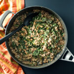 Maple Walnut Glazed Black-Eyed Peas with Collard Greens - inspired by flavors typically associated with baked ham, this gluten-free vegan recipe makes a tasty plant-based side-dish | VeggiePrimer.com