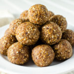 No-Bake Walnut Fig Energy Bites - if you are looking for a not-too-sweet fig cookie, check out this gluten-free vegan recipe! It's quick and easy to prepare and loaded with healthy ingredients! | VeggiePrimer.com