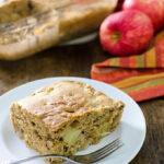 Easy Gluten-Free Apple Snack Cake - mix and bake this simple vegan recipe in the same pan! | VeggiePrimer.com