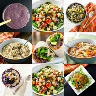 Easy One-Week Plant-Based Meal Plan - this collection of gluten-free vegan recipes offers a way to stay healthy when you don't have a lot of time to cook | VeggiePrimer.com
