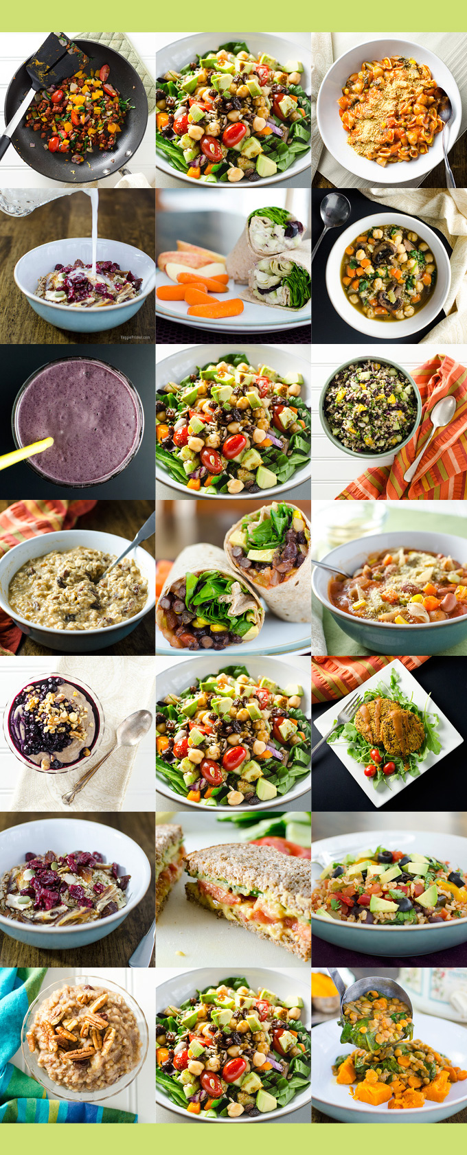 Easy One-Week Plant-Based Meal Plan - this collection of simple gluten-free vegan recipes offers a way to stay healthy when you don't have a lot of time to cook | VeggiePrimer.com