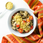 Tomato Eggplant Quinoa Bowl - this vegan gluten-free recipe is a quick and easy way to use garden veggies | VeggiePrimer.com