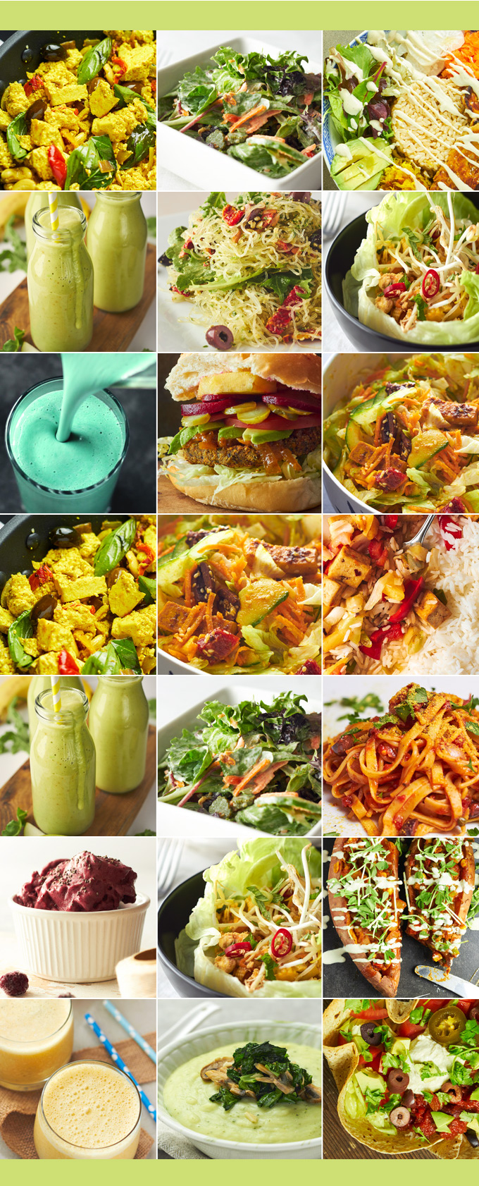 Vegan Meal Plan - one week of delicious plant-based menus