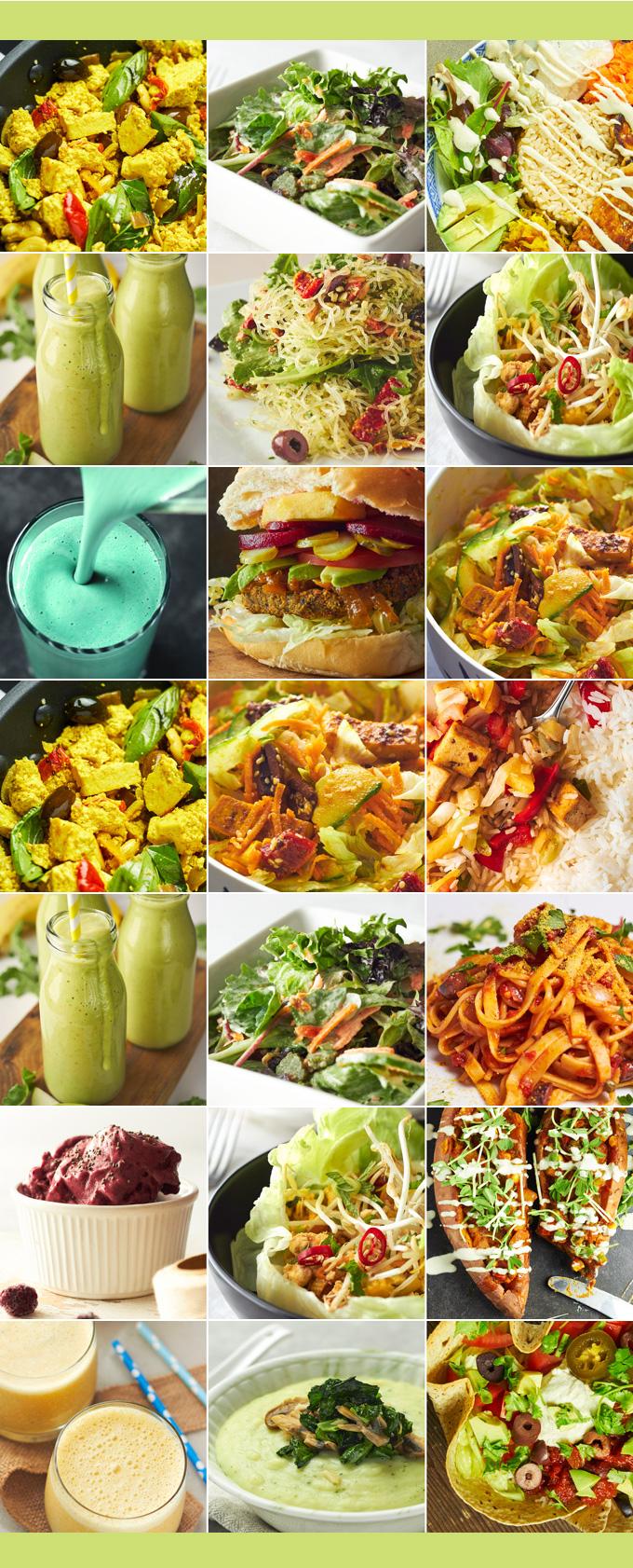 Vegan Meal Plan - one week of delicious plant-based menus