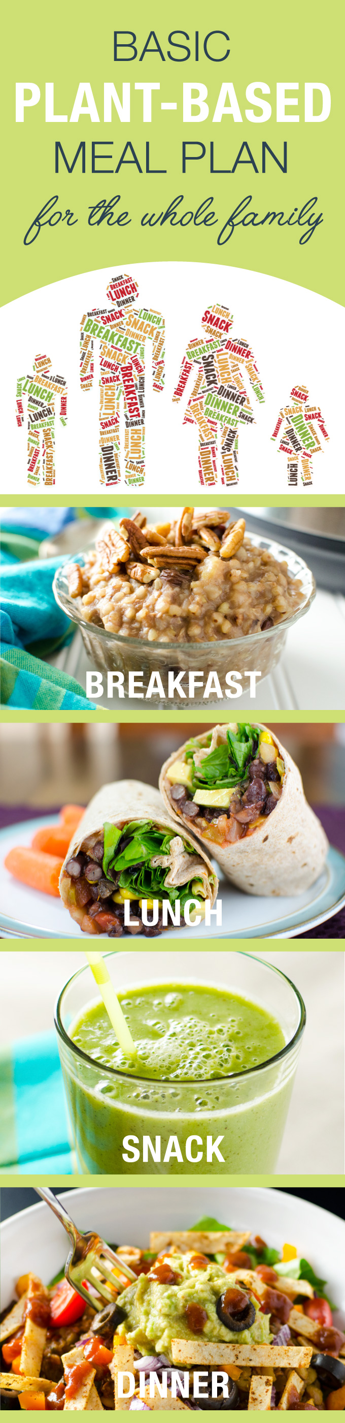 Basic Plant Based Meal Plan Breakfast Lunch Snack And Dinner