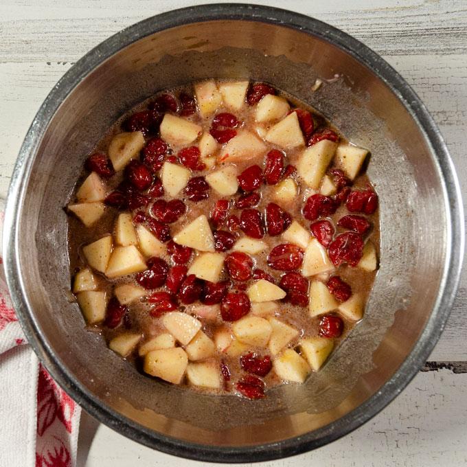 Gluten-free Vegan Cherry Apple Pie filling