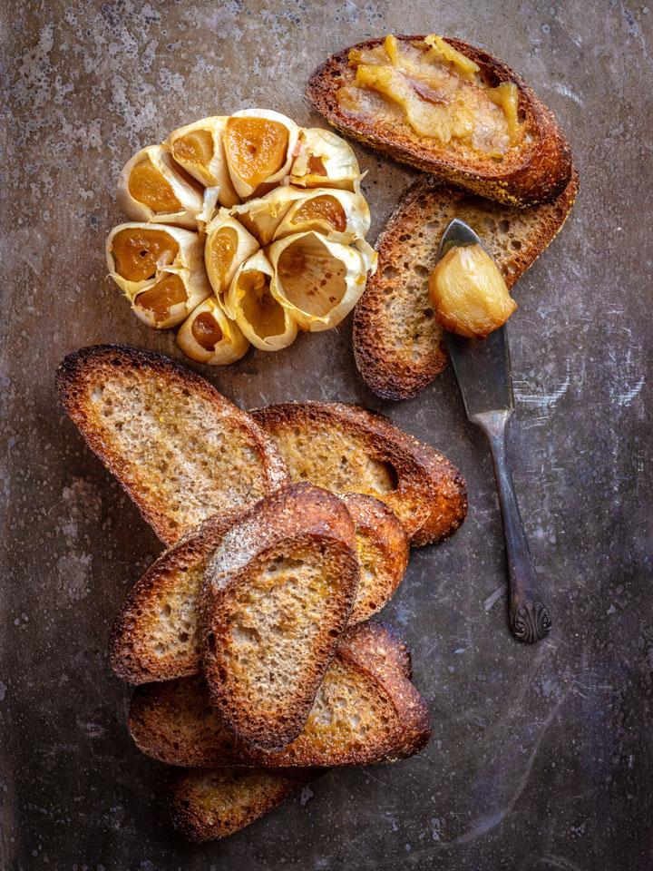 roasted garlic toast
