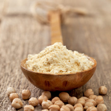 chickpea flour - the main ingredient in Mini Chickpea Quiches