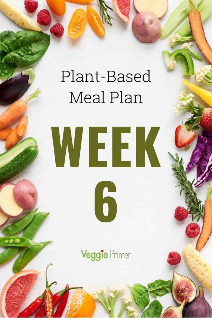 Week 6 Plant-Based Meal Plan Graphic