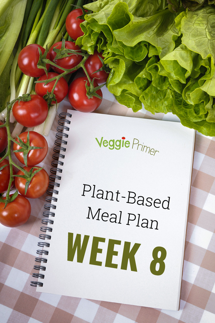 Plant-Based Meal Plan - Week 8 Graphic