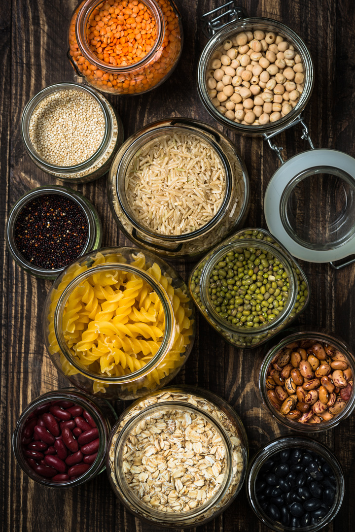 Foods to Keep on Hand - legumes, grains, and pasta